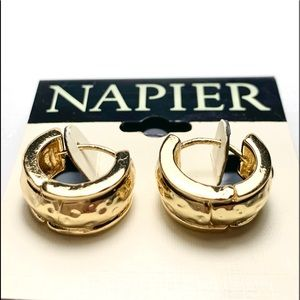 Thick Little Gold Hoops by Napier